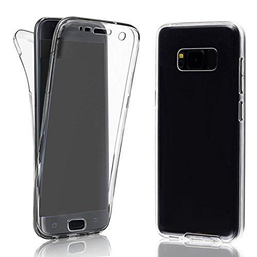 Eximmobile 360° Full Handyhülle für LG G5 SE | Hülle für vorne & hinten | Silikon Schutzhülle | Handytasche mit beidseitigem Schutz | Cover in transparent | Handy Tasche Etui Hülle