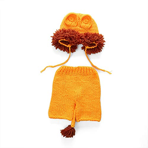 OMKMNOE Disfraz De Tejido De Ganchillo Recin Nacido, Conejito Lindo Conejo Sombrero Corto Zanahorias Infanteras Regalo De Pascua Apoyos De Sombrero De Punto 0-12 Meses,Naranja