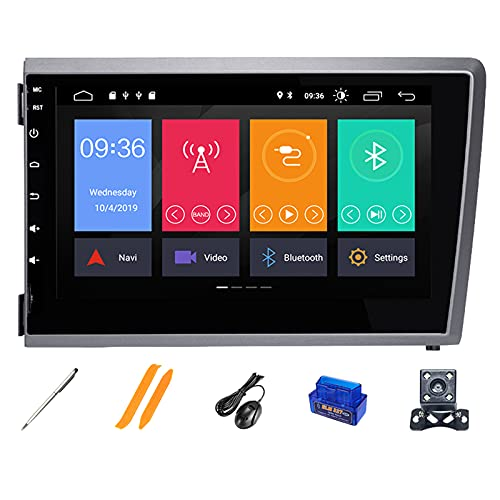 HAZYJT Car Navigation 7 Pulgadas Android 10.0 Estéreo De Automóvil Compatible con V-olvo S60 V70 XC70 XC90 2000~2004 Soporte GPS Carplay Dsp Bluetooth WiFi Dab