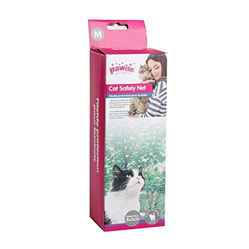 Pawise Sicherheitsnetz für Katzen, Katzenschutznetz, für Balkone, transparent