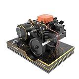 TopBau Viertaktmotor Bausatz Toyan Methanol Engine Komplettes Motor Modell Set für 1:10 1:12 1:14 RC Auto Boot Flugzeug - FS-S100A