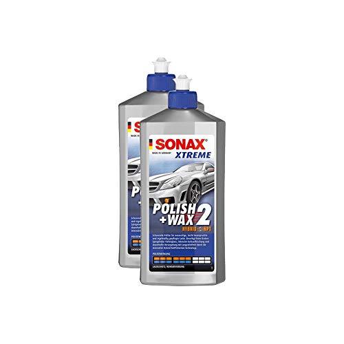 SONAX 2X 02072000 Xtreme Polish+Wax 2 Hybrid NPT Politur Wachs Pflege 500ml