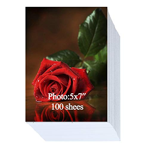 Glossy Photo Paper 100 Sheets 5x7 inch 200gsm