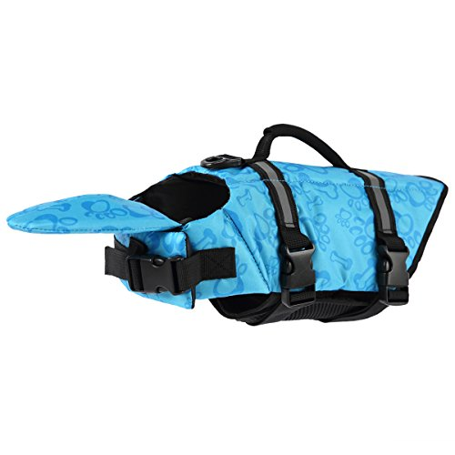 PETCEE XS Dog Life Jacket is Fit for Small Dog Life Vest with Buoyancy and Rescue Handle for Swimming Blue XS