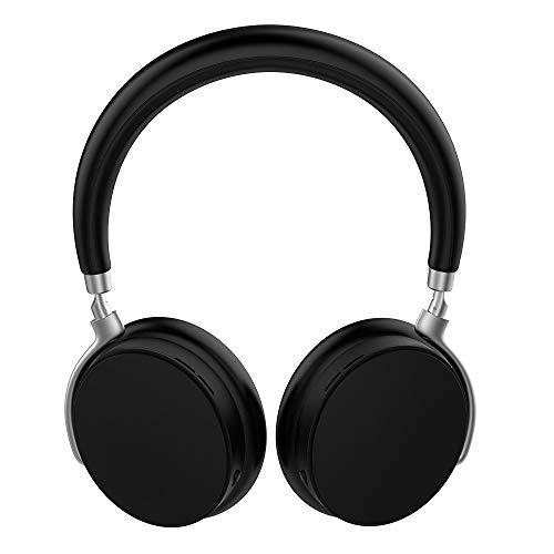 Auriculares Bluetooth inalámbricos, Hi-Fi estéreo bajo sobre la oreja, orejeras de proteína de memoria suave,asistente de voz, Bluetooth 5.0 y modo con cable para teléfono PC TV