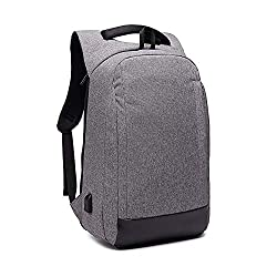 PKKOBOUY Business Backpack Men Women Anti Theft Backpacks Waterproof for Work Travel 15,6 Inch Laptop Backpack Backpack Computer School Backpack Notebook Bag with USB, Gray,