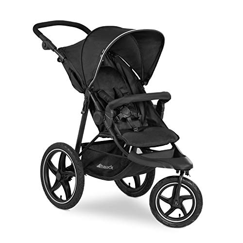 Hauck Runner 2, Jogger Style, 3-Wheeler up to 25 kg, Pushchair with Extra Large Air Wheels, Canopy...