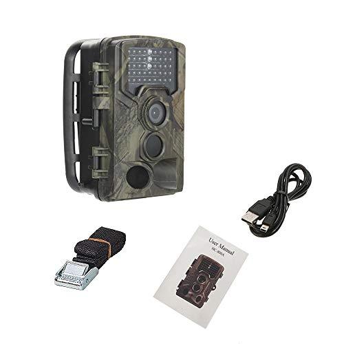 LZCHA Wildkamera Fotofalle 21MP 1080P HD Jagdkamera Nachtsicht Bewegungsmelder IP66 Wasserdichter& Staubdicht 3-Zonen-Infrarotsensor 125 °Weitwinkel Nachtsichtkamera mit with Two 32GB Memory Cards