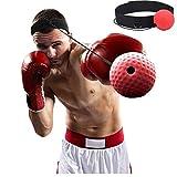 WJY Pelota de Boxeo Reflex, Head Band Boxing Fight Ball Boxeo Reflex Pelota Entrenamiento de Boxeo Punch Ball Muay Tai MMA Accesorios para Equipos de Ejercicio