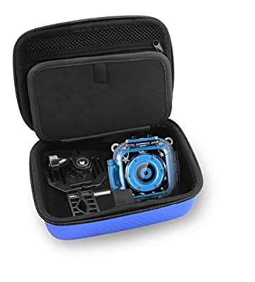 CASEMATIX Kids Video Camera Travel Case Compatible with PROGRACE, Ourlife, Dragon Touch Kidicam and More Kids Waterproof Camera Recorders - Case for Camera for Kids and Kids Action Camera Accessories by CASEMATIX