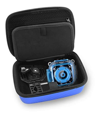 CASEMATIX Kids Video Camera Travel Case Compatible with Ourlife, Dragon Touch Kidicam and More Kids Waterproof Camera Recorders - Case for Waterproof Camera for Kids and Kids Action Camera Accessories