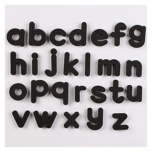 JSJJAQW Imán de refrigerador 3.7 cm 26pcs / Set imanes Frigorífico Alfabeto, Letra magnética del Alfabeto de la enseñanza en minúscula, el hogar imanes de refrigerador Decoración