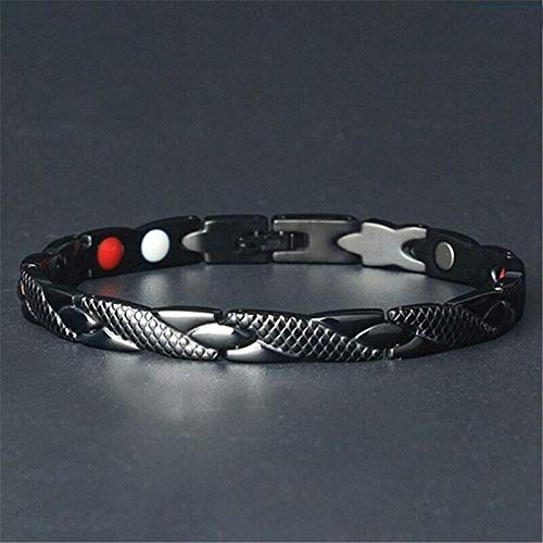 Magnetic Therapy Bracelet Carpal Tunnel Relief Arthritis Chronic Pain, Magnetic Bracelets for Women Men Arthritis Bracelet for Women Magnet Therapy for Pain Ring Tunnel Relief (black)