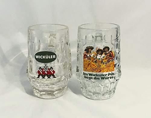 Wicküler Krug Glas 0,2l / Bierkrug/Bier Gläser/Sammler Stück / 2 Stück