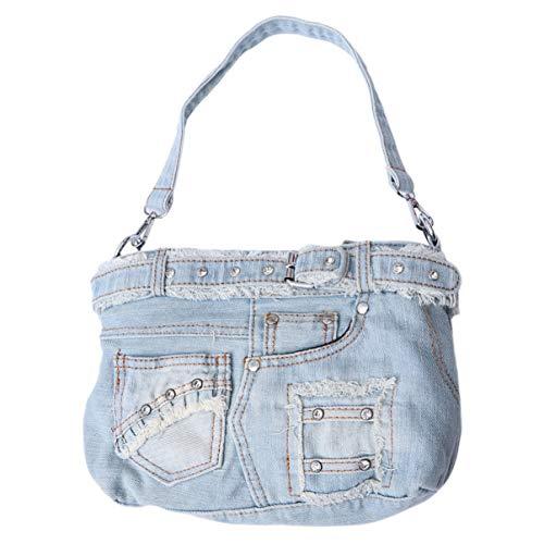 Sac à main en jean fashion pour femmes filles casual...