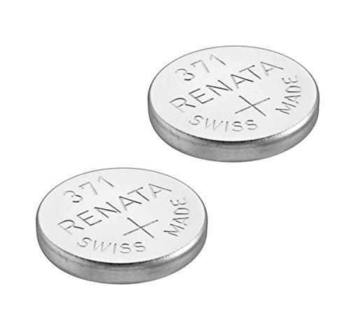 Renata Batteria per orologio, prodotto svizzero, Renata 371 o SR 920 SW, da 1,5 V 2 x 371 or SR 920 SW Silver