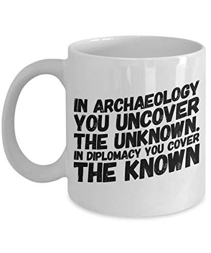 Dozili Archeologie Koffiemok Cadeau voor Archeoloog Prehistoricus Paleontoloog American Made Cup, 11 Oz, Wit