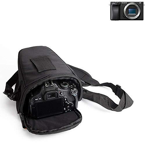 K-S-Trade Schultertasche Für Sony Alpha 6400 Colt Kameratasche Für Systemkameras DSLR DSLM SLR, Bridge Etc, Schutzhülle Bag Zubehörtasche Gürteltasche Regenschutz, Stoßfest, Anti Schock Schwarz