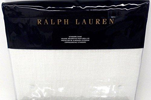 Ralph Lauren Home Cove Warm White Standard Pillow Sham Black Palms