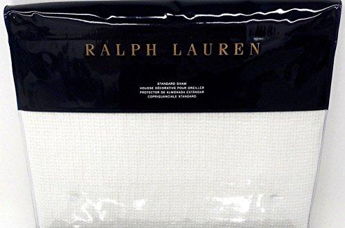 Ralph Lauren Home Cove Warm White Standard Pillow Sham Black Palms