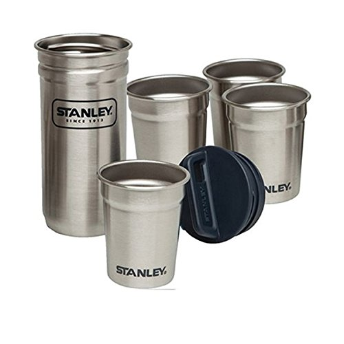 Stanley Steel Shot Glass Set – 4 Mug INOX/1 cuve INOX à Fermeture vissée