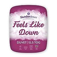 Slumberdown Feels Like Down Single Duvet 13.5 Tog Winter Duvet Single Bed