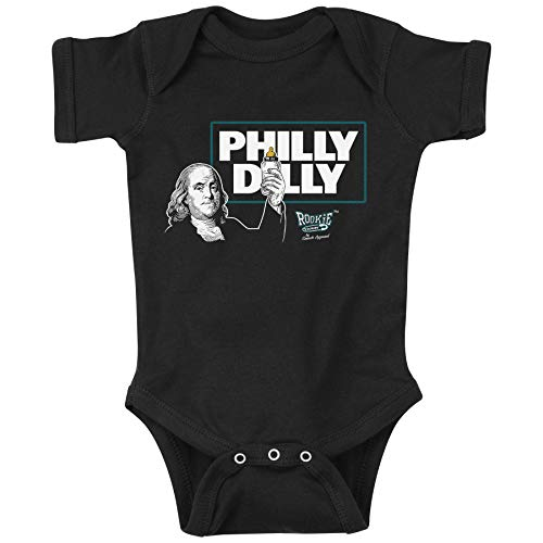 Rookie Wear by Smack Apparel Philadelphia Football Fans. Philly Dilly Black Onesie & Toddler Tee (NB-4T) (12 Month)