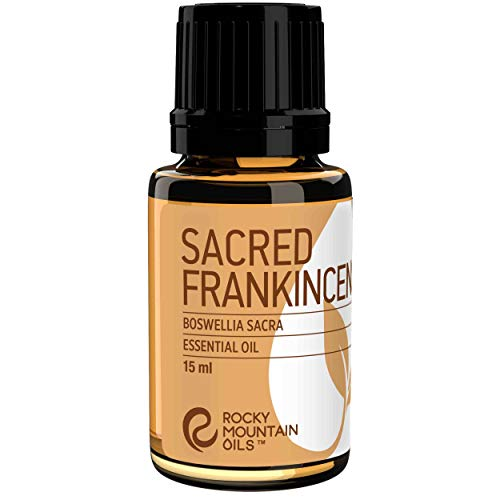 Rocky Mountain Oils Sacred Frankincense Essential Oil - 100% Pure and Natural Aromatherapy Essential Oils for Diffusers, Topical Massage Oil for Massage Therapy and Skin Care, and Household - 15ml