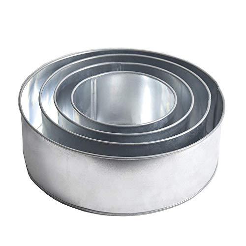 """EURO TINS Set of 4-Piece Round Shape Cake Baking Pans 6"""" 8"""