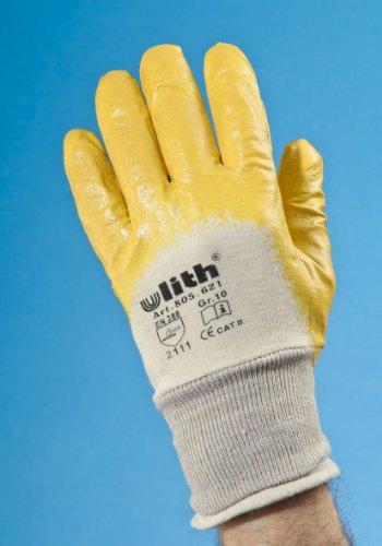 12x Nitril Arbeitshandschuhe Größe: 10 Farbe: gelb
