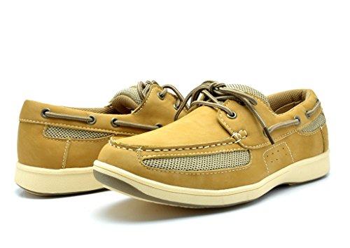 kingshow Men's M1525 Boat Shoes 9.5 M US