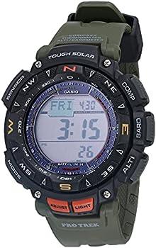 Casio Men's Quartz Sport Watch with Green Resin Strap