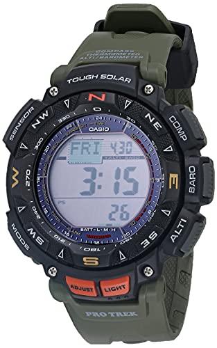 Casio Men's Quartz Sport Watch with Resin Strap, Green, 27 (Model: PRG-240-3CR)