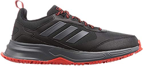 adidas Herren Rockadia Trail 3.0 Laufschuhe, Schwarz (Core Black/Night Met./Active Red), 44 EU