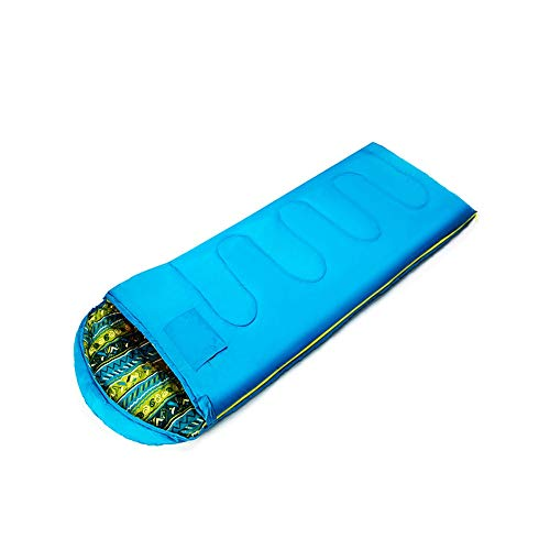 HUACANG HUACANG Outdoor-Schlafsack Für Kinder Frühling Und Herbst Warmes Studentenschlafzimmer Camping Kalten Schlafsack (Farbe : Blau)