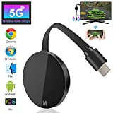Wireless WiFi Display Dongle HDMI WiFi Dongle Inalámbrico con Pantalla 4K HD, 5G WiFi Display Receiver Soporte Miracast Airplay DLNA para Chromecast / Android / iOS / PC / TV / Monitor / Proyector