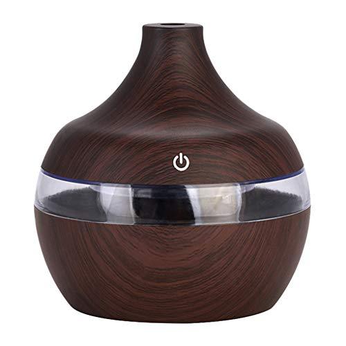 MagiDeal Aromaterapia de Aire de USB Eléctrico Humidificador de Vapor 300ml Capacidad de Agua de 300 ml - Marron oscuro