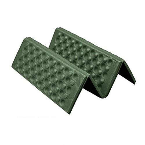 3Pcs Protable Faltbare Außen Schaum Sitzkissen bewegliche wasserdichte Stuhl-Matte für Backpacking, Camping, Wandern, Hängematten - Grün & Schwarz