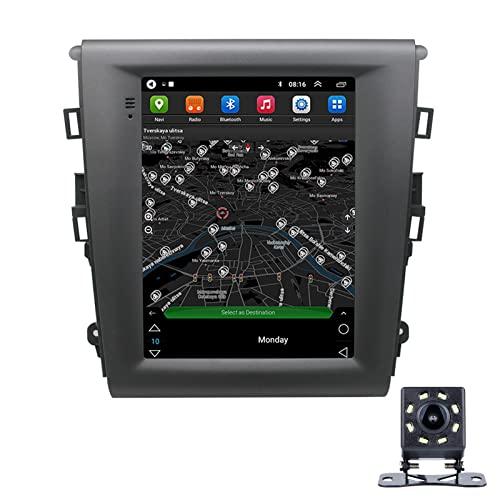 LWYJ Android 10.0 Coche Radio Estéreo para Ford Mondeo CHIA-X Pantalla Táctil De 10 Pulgadas GPS Navegación WiFi Bluetooth USB Soporte Am FM SWC con Camara Trasera,2+32G