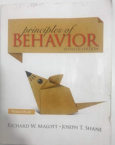 Principles Of Behavior,