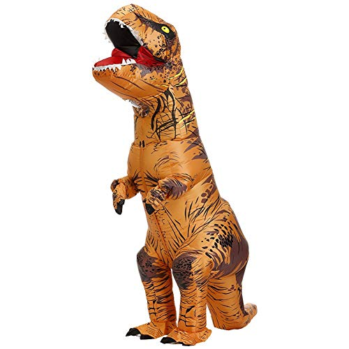ZGNB Disfraz Dinosaurio Inflable T-Rex Mascot Party Costume Fancy Dress Cosplay Outfit Traje Trex Disfraces Hombre Divertidas Halloween para Fiesta Hinchable con Bomba de Aire USB