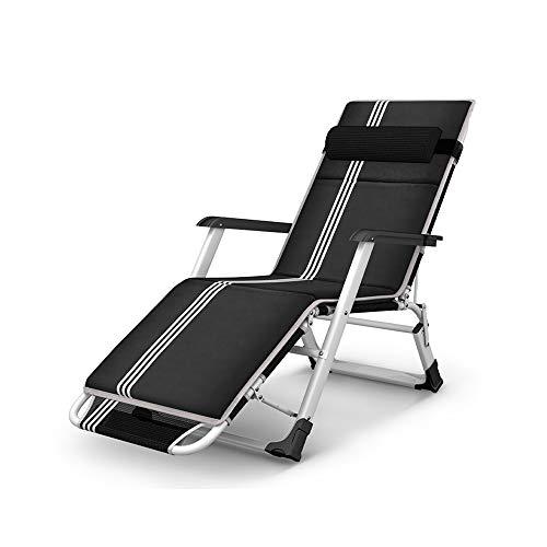 GWDJ Klappsessel, Büro Nap Chair Strand Lounge Chair Terrasse Im Freien Verstellbaren Esszimmerstuhl Liegestuhl Mit Kissen Stuhl Faulen Stuhl Lounge-Sessel (Color : B, Size : L178xW65xH25cm)