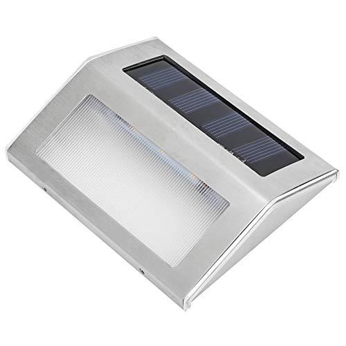 Redxiao Lámpara Solar para Patio, Material ABS Que Ahorra energía, Luces solares para escalones, Luces solares para escaleras, Acero Inoxidable de Alta conversión para escaleras