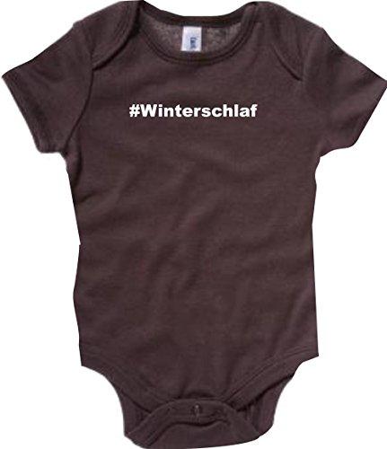 Baby Body; #Winterschlaf; Farbe Braun; Größe 3-6 Monate