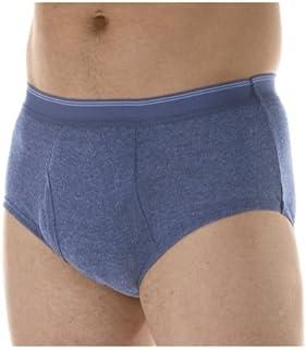 1-Pack Men's Grey Super Absorbency Washable Reusable Incontinence Briefs Medium (Waist 34-36