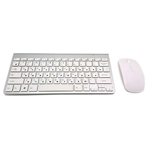 Toetsenbord Ultradunne Draadloze Toetsenbord Muis Combo 2.4g Draadloze Muis Voor Apple Toetsenbord Stijl Mac Win Xp/7/8/10 Tv Doos Wit Set