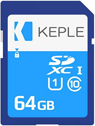 Keple 64GB SD Speicherkarte Quick Speed Speicher Karte Kompatibel mit Canon EOS 70D, 6D, 100D, 600D, 1100D, 1200D, 60D, 550D, EOS 700D SLR Digital Kamera | 64GB UHS-1 U1 SDXC Card