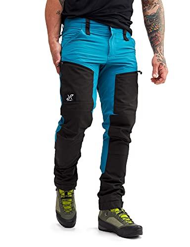 RevolutionRace RVRC GP PRO Pants, Pantaloni da Uomo, durevoli per Trekking e Altre attività all Aria Aperta, Dusty Blue, L