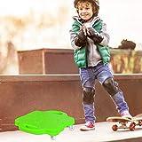 niyin204 Scooter 4 Roues,Panneau Scooter Plastique avec Poignées Profilées,Panneau Scooter Plancher Plastique avec Rouleaux,Scooters Sport Gymnastique Plastique,pour Enfants Garçons Filles 6 À 12 Ans