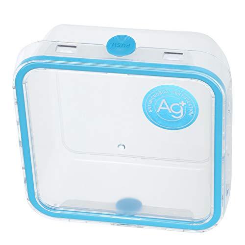 01 Bento Box, Antideslizante antidesgaste El diseño de Las Ranuras El contenedor de Almacenamiento de Alimentos de Doble protección de diseño Integrado, para Viajes al hogar(1050ml)